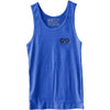 GO ALL DAY® Unisex Tank (Heather Royal Blue) Small Logo