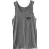 GO ALL DAY® Unisex Tank (Heather Grey) Small Logo