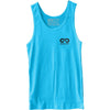 GO ALL DAY® Unisex Tank (Neon Heather Blue) Small Logo