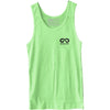 GO ALL DAY® Unisex Tank (Neon Heather Green) Small Logo