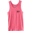 GO ALL DAY® Unisex Tank (Neon Heather Pink) Small Logo