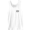 GO ALL DAY® Unisex Tank (White) Small Logo