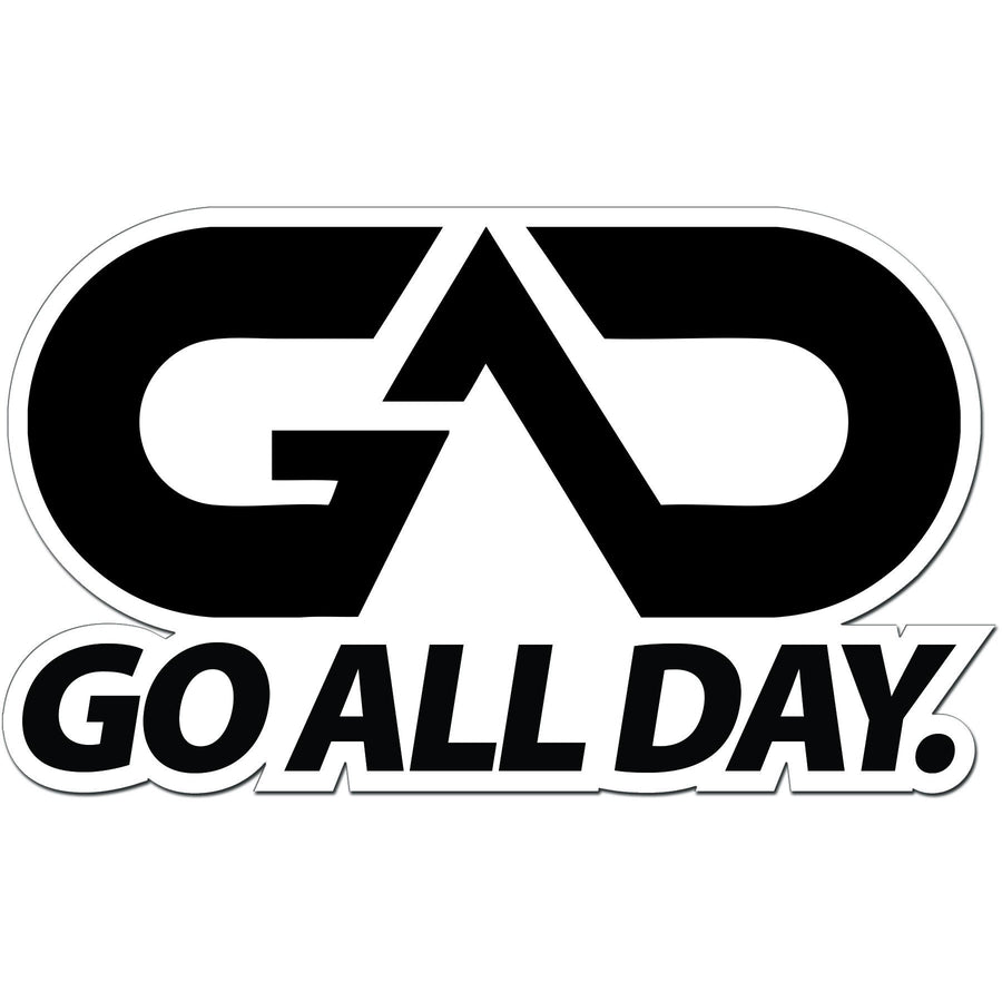 "GO ALL DAY® Die-Cut Sticker (5"" x 3"")"
