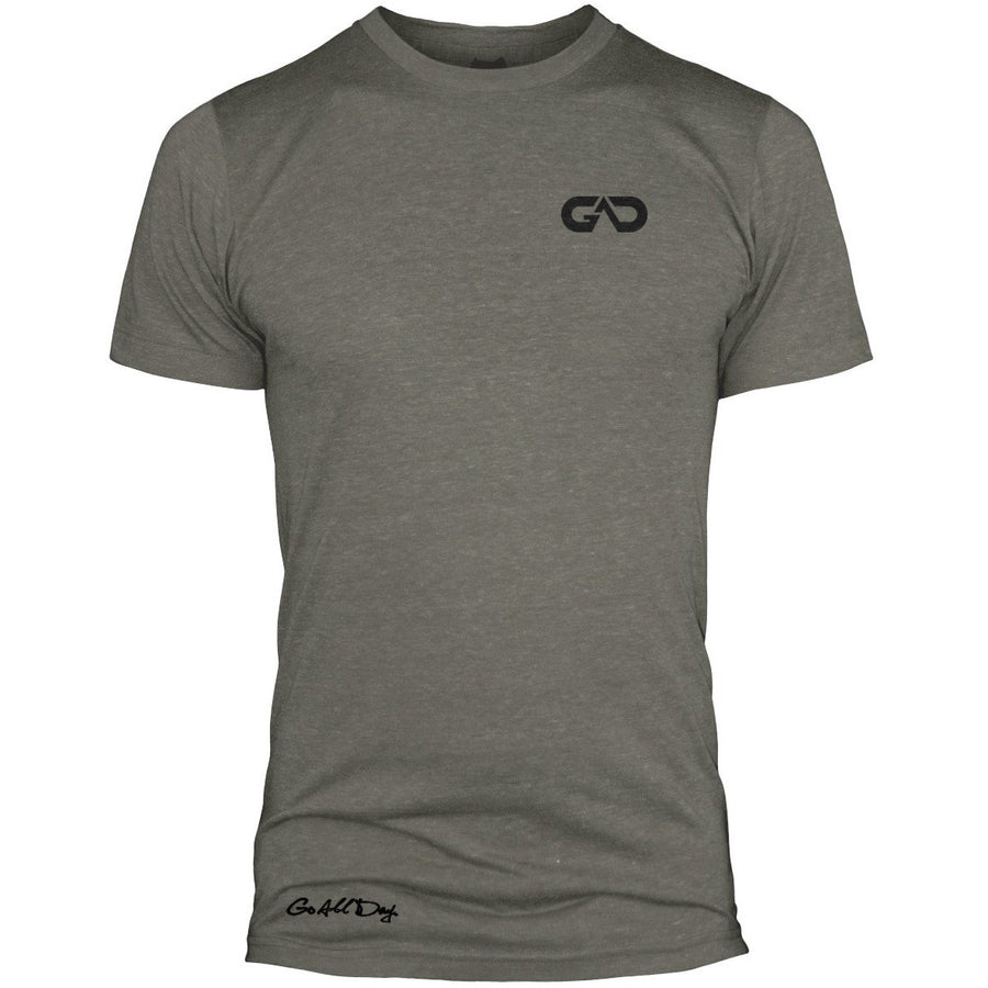 GO ALL DAY Infinity Logo Poly/Cotton Tee (Stone Grey)