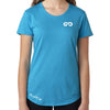 Women's GO ALL DAY Infinity Logo TriBlend Tee (Tahiti Blue)