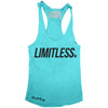 "GO ALL DAY ""LIMITLESS"" TriBlend Racerback Tank (Teal)"