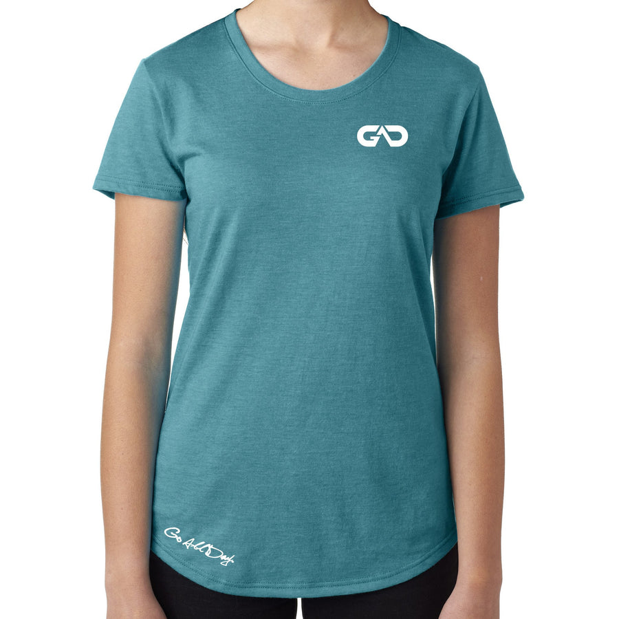 Women's GO ALL DAY Infinity Logo TriBlend Tee (Teal)