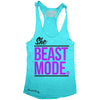 """SHE BEAST MODE"" Signature Series Racerback Tank (Teal)"
