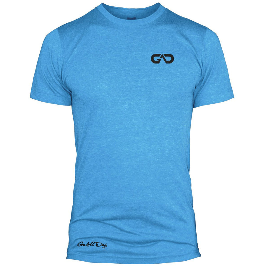 GO ALL DAY Infinity Logo Poly/Cotton Tee (Turquoise)