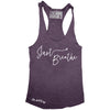 "GO ALL DAY ""JUST BREATHE"" TriBlend Racerback Tank (Vintage Purple)"