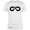 GO ALL DAY Infinity Logo Poly/Cotton Tee (White)