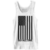 """USA FLAG"" Unisex Tank (White)"