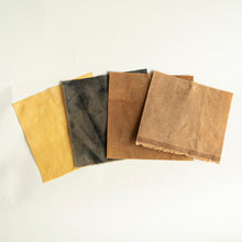 Waxed fabric samples