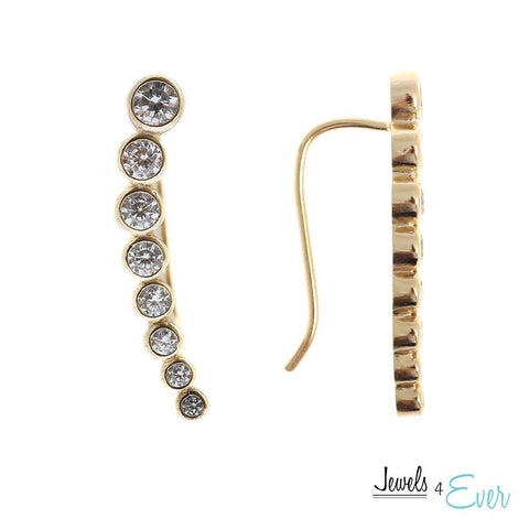 Gold plated Sterling Silver CZ Ear Climber