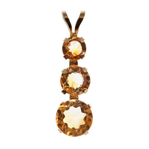 14KT Yellow Gold Genuine Citrine Journey Pendant