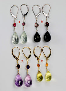 14KT Gold Gemstone Briolette Earrings