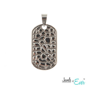 Engravable Stainless Steel Dog Tag Pendant