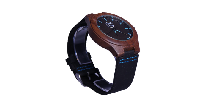 Cruizers | Waterproof Dark Bamboo Watch | Black Leather Band | TZ Lifestyle