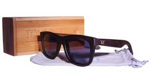 Surferz | Black Lens | Floating Bamboo | Wood Sunglasses | Polarized | TZ LIFESTYLE