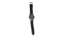 Load image into Gallery viewer, Cruizers | Waterproof Dark Bamboo Watch | Black Leather Band | TZ Lifestyle