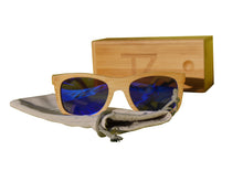 Load image into Gallery viewer, Light Breez | Blue Lens | Floating Bamboo Sunglasses | Polarized | TZ LIFESTYLE