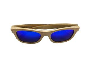 Light Breez | Blue Lens | Floating Bamboo Sunglasses | Polarized | TZ LIFESTYLE