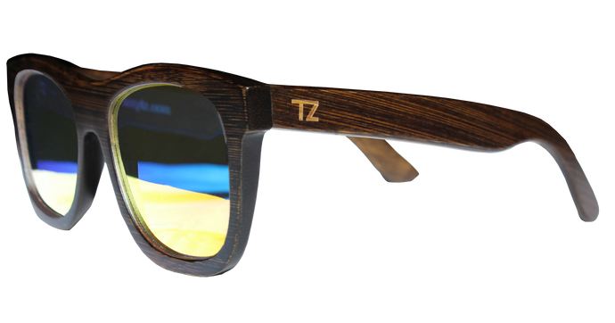 Sunsetterz | Red Lens | Floating Bamboo Sunglasses | Polarized | TZ LIFESTYLE