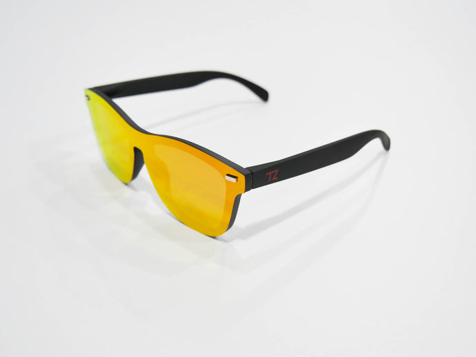 Hot Lava | Polarized Reflective Series Sunglasses/Wayfarers with Mirrored Lenses