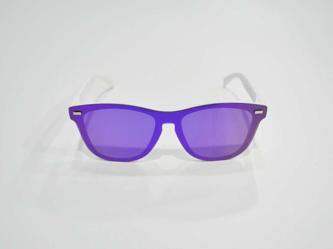 Purple Rain | Polarized Reflective Series Sunglasses/Wayfarers with Mirrored Lenses