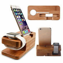 Load image into Gallery viewer, 2-in-1 Bamboo Desktop Stand