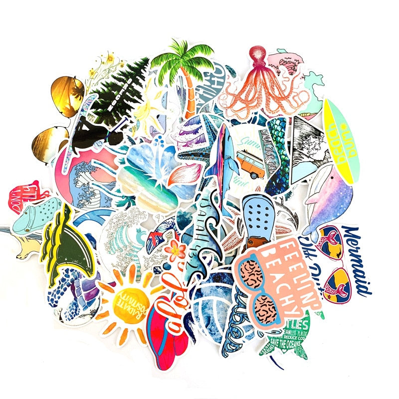 50 PCS Outdoor Surfing Stickers