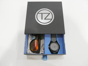 TZ LIFESTYLE | Volcanic Essentials Pack | Polarized Red Floating Bamboo Sunglasses with Gray Waterproof Wood Watch