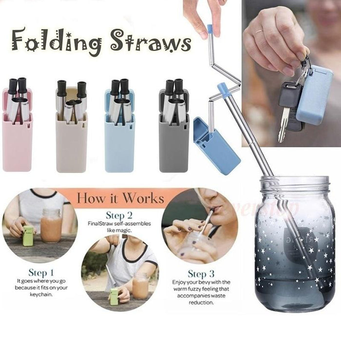 Foldable Drinking Straw - Household Hacks