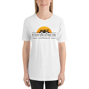 It's Their Home, Let Them Roam. Support Wildlife Corridors. Orange sun Short-Sleeve Unisex T-Shirt