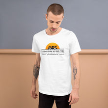 Load image into Gallery viewer, It's Their Home, Let Them Roam. Support Wildlife Corridors. Orange sun Short-Sleeve Unisex T-Shirt
