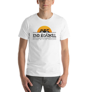 End Roadkill Support Wildlife Corridors Orange Sun Short-Sleeve Unisex T-Shirt
