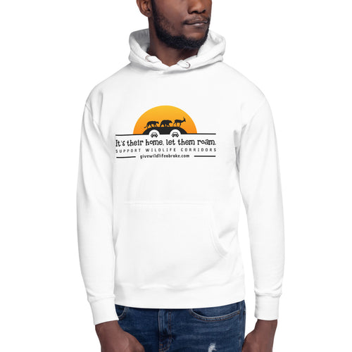 Unisex Hoodie It's Their Home, Let Them Roam Orange Sun