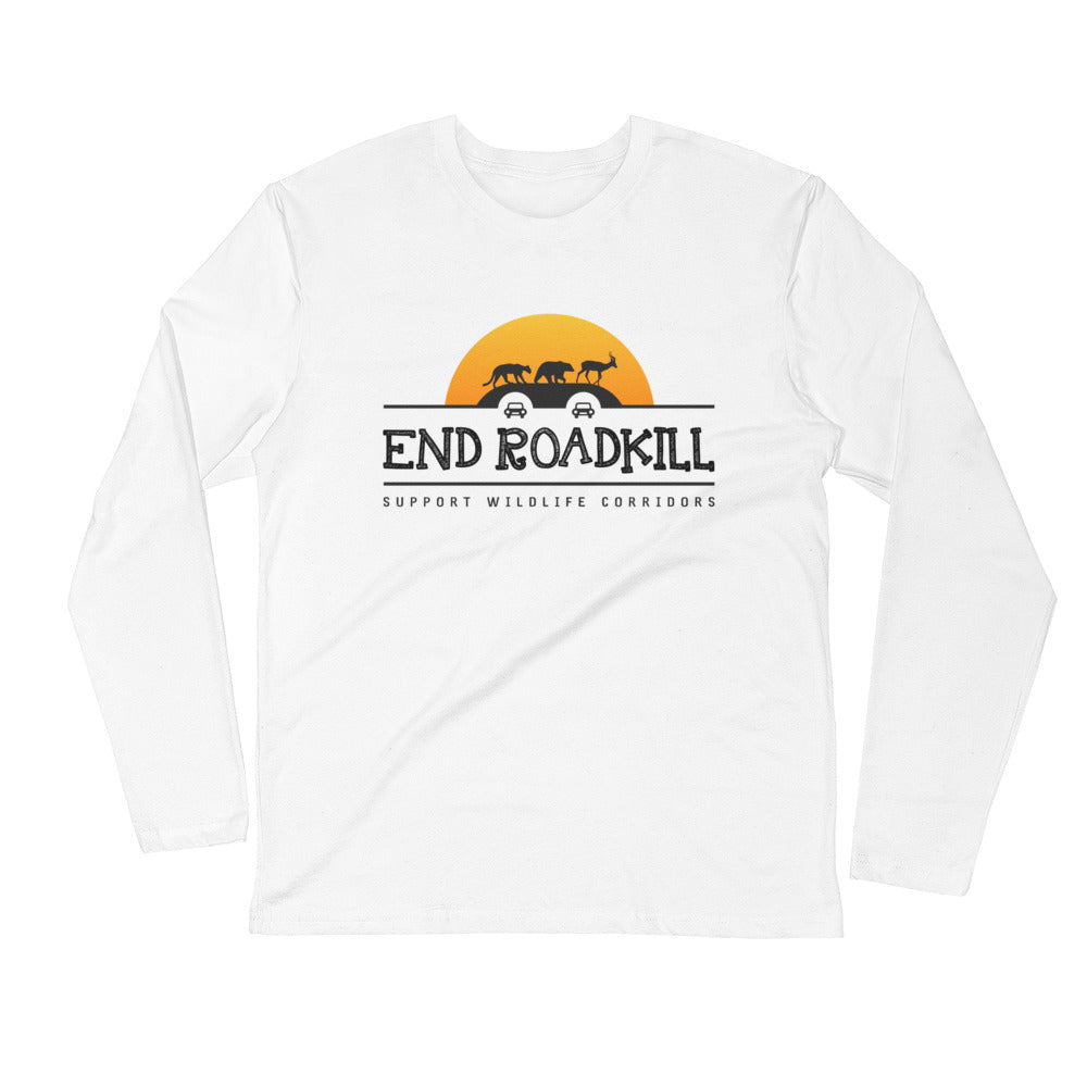 End Roadkill Orange Sun Personalized Fitted Long Sleeve Shirt - Next Level 3601