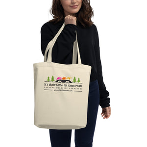 It's Their Home Corridors Wildlife Multicolor Animals Small Eco Tote Bag