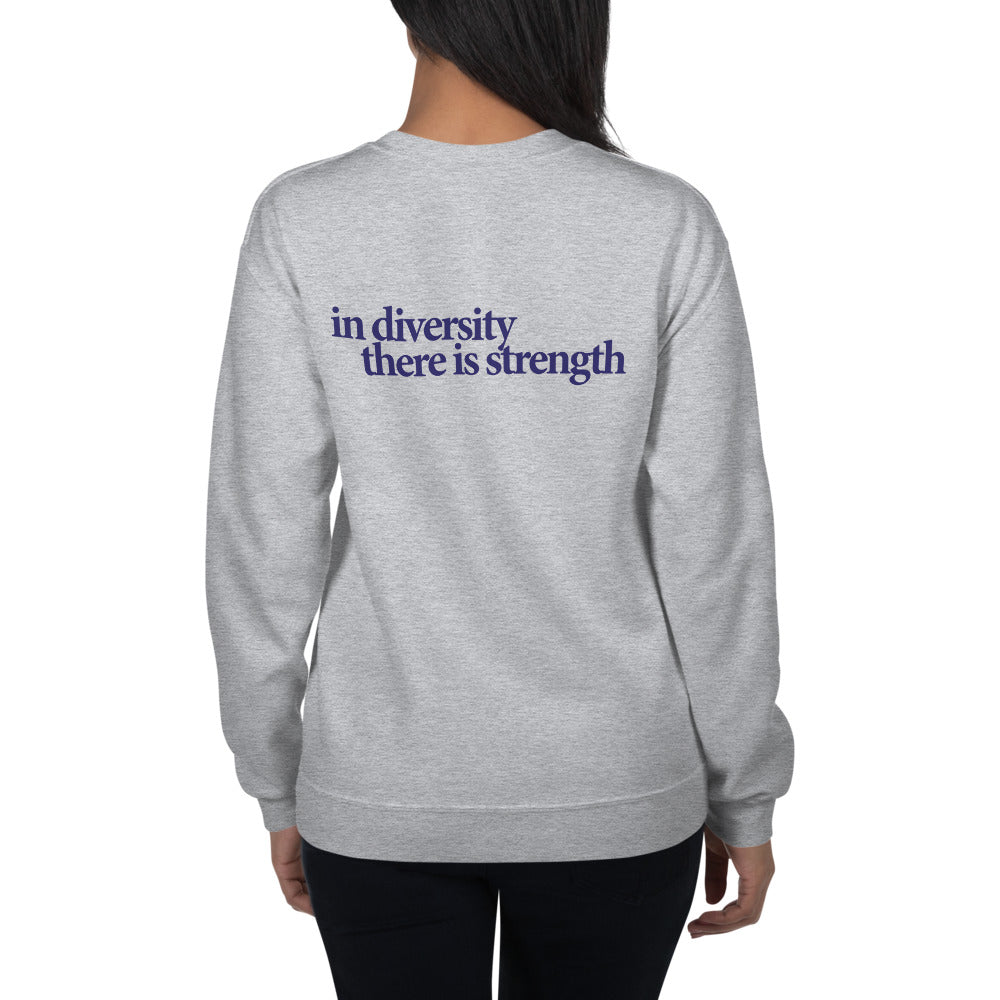 In Diversity Butterfly Graphic Unisex Sweatshirt