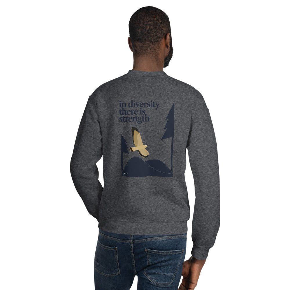 In Diversity Eagle Graphic Unisex Sweatshirt