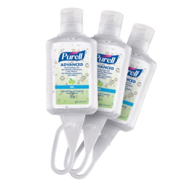 PURELL® Advanced Hand Sanitizer Refreshing Gel Travel Sized Flip Cap Bottles with Jelly Wrap Carriers (30mL) - Fragrance Free