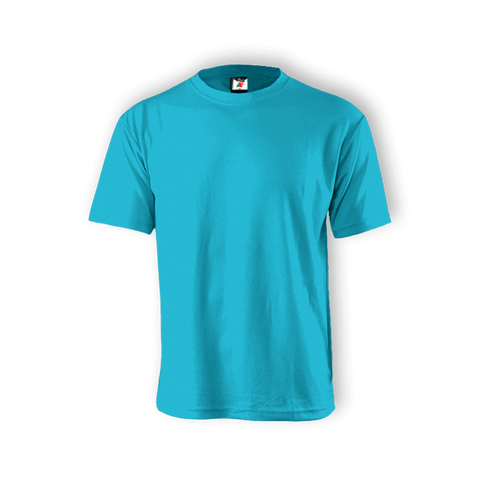 Round Neck T-shirt 100% Cotton: Blue Aqua