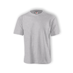 Round Neck T-shirt 100% Cotton:: Grey Ash