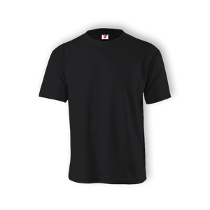 Round Neck T-shirt 100% Cotton: Black