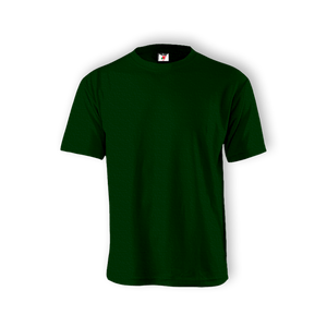 Round Neck T-shirt 100% Cotton: Bottled Green