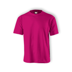 Round Neck T-shirt 100% Cotton: Fuchsia