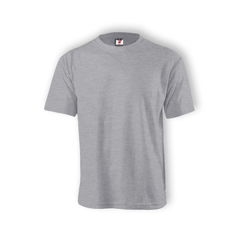 Round Neck T-shirt 100% Cotton: Grey Melange