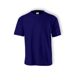 Round Neck T-shirt 100% Cotton: Blue Indigo