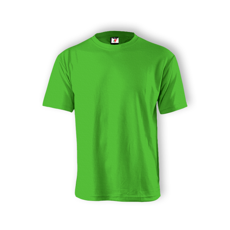 Round Neck T-shirt 100% Cotton: Lime Green